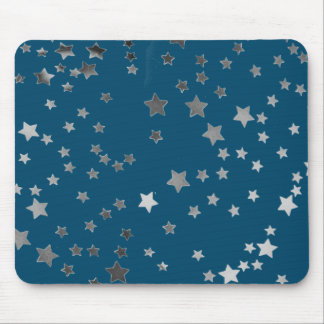 Scattered Stars on Blue Mouse Pad