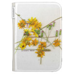 Scattered wildflowers in yellow and white case for the kindle