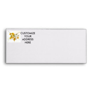 Scattered wildflowers in yellow and white envelope