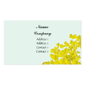 Scattered Yellow Flowers Business Card