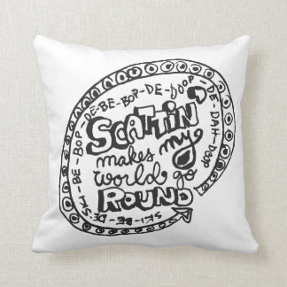 Scattin 2-Sided Throw Pillow