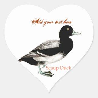 Scaup Duck Heart Sticker