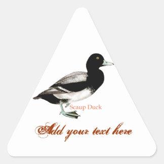 Scaup Duck Triangle Sticker