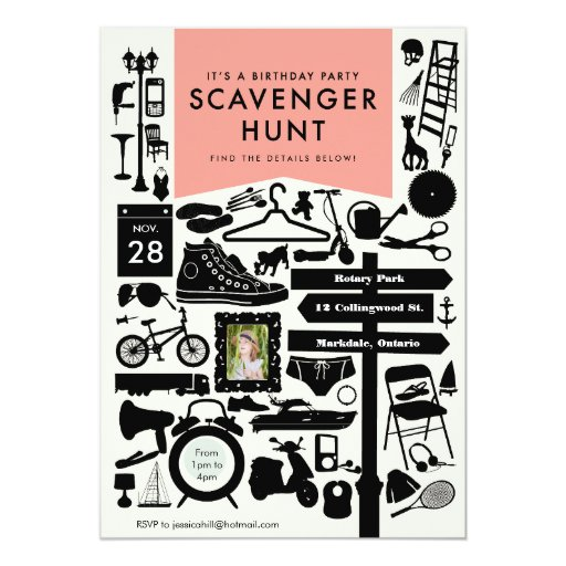 Scavenger Hunt Invitations is perfect invitations example