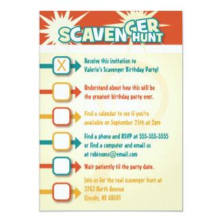 Scavenger Hunt Invitation