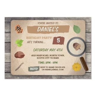 SCAVENGER HUNT KIDS BIRTHDAY PARTY GARDEN INVITE
