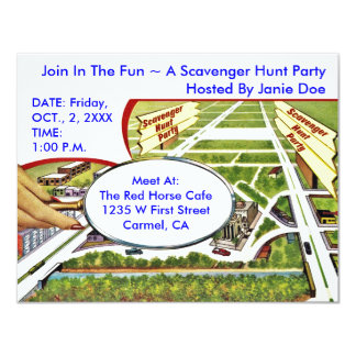 Scavenger Hunt Invitations Announcements Zazzle