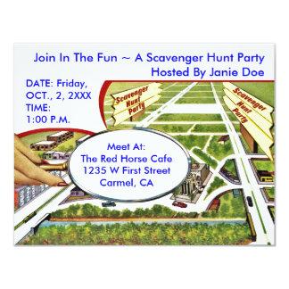 SCAVENGER HUNT PARTY INVITE ~EZ TO CUSTOMIZE