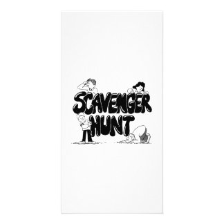 Scavenger Hunt Custom Photo Card