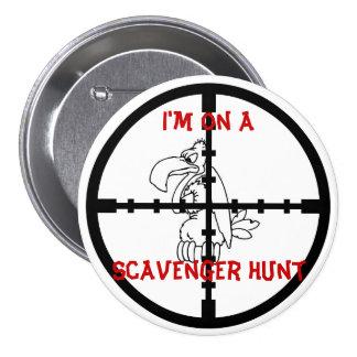 Scavenger Hunt Pinback Button