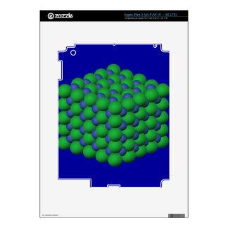 SCC SODIUM CHLORIDE CRYSTAL SCIENCE NERDS BLUE GRE iPad 3 SKINS