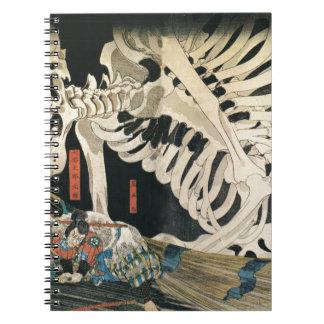 Sceleton by Utagawa Kuniyoshi Notebook