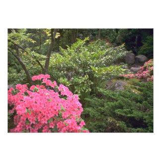 Scenario Of Bright Green And Pink Personalized Invites