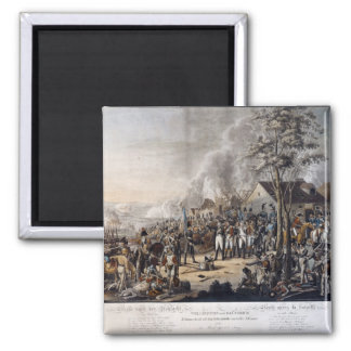 Scene after the Battle of Waterloo 2 Inch Square Magnet