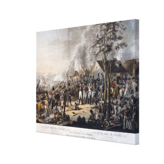 Scene after the Battle of Waterloo Canvas Print