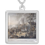 Scene after the Battle of Waterloo Square Pendant Necklace