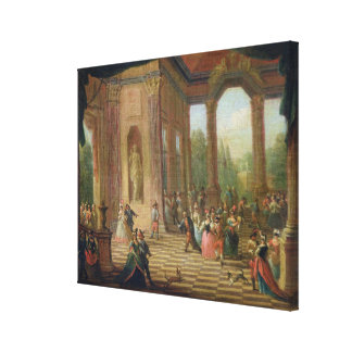 Scene at a Masked Ball Gallery Wrap Canvas