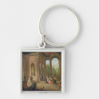 Scene at a Masked Ball Keychain
