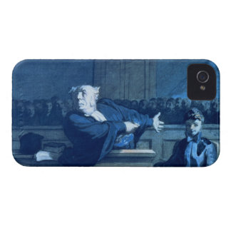 Scene at a tribunal (w/c) iPhone 4 Case-Mate case