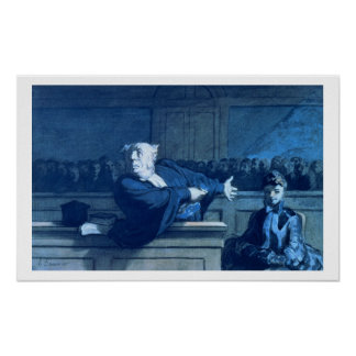Scene at a tribunal (w/c) poster