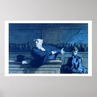 Scene at a tribunal (w/c) print