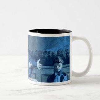 Scene at a tribunal (w/c) Two-Tone coffee mug