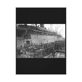 Scene at American transport_War Image Canvas Print