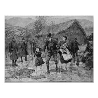 Scene at an Irish Eviction in County Kerry Poster