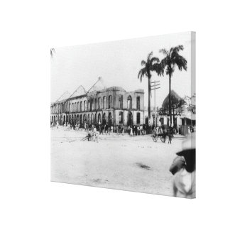 Scene at the Port of Spain, Trinidad, 1891 Canvas Print