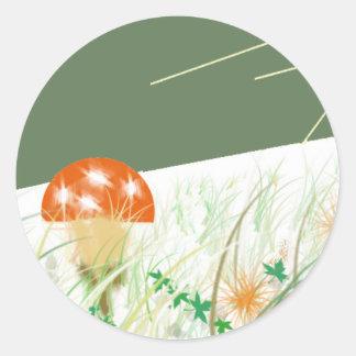 scene cartoon from animation round sticker