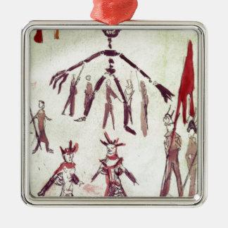 Scene Drawing from Ubu Roi Metal Ornament