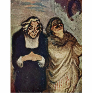 Scene From A Comedy By Molière By Daumier Honoré ( Acrylic Cut Outs