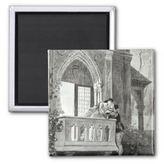 Scene from Act II of Romeo and Juliet 2 Inch Square Magnet