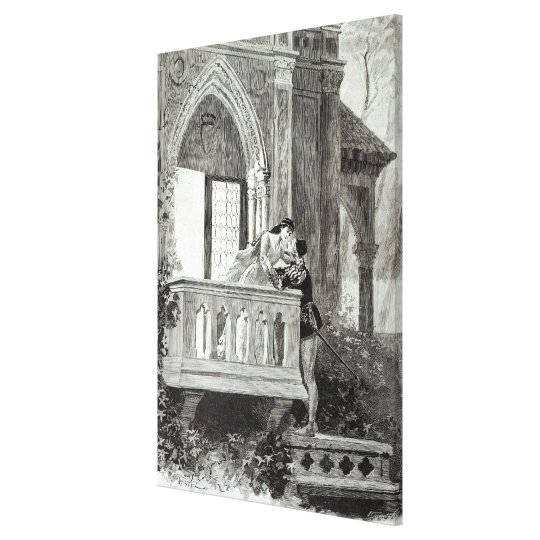Scene from Act II of Romeo and Juliet Canvas Print