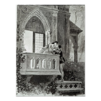 Scene from Act II of Romeo and Juliet Poster