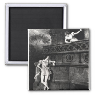 Scene from Act III of 'Romeo and Juliet' 2 Inch Square Magnet