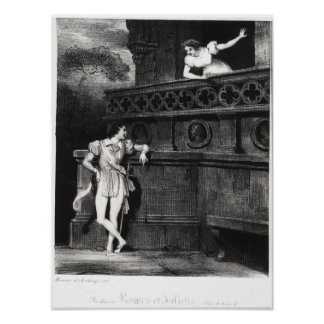 Scene from Act III of 'Romeo and Juliet' Poster