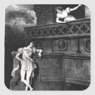 Scene from Act III of 'Romeo and Juliet' Square Sticker