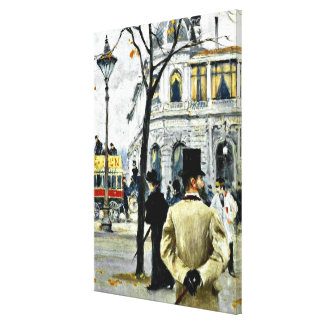 Scene from Copenhagen; Paul Gustave Fischer art Canvas Print