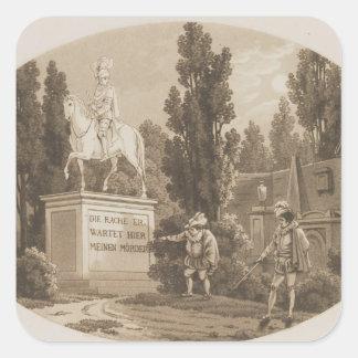 Scene from 'Don Giovanni' Square Sticker