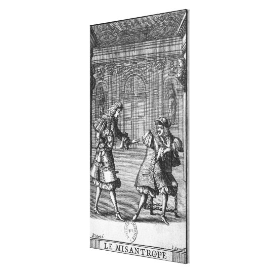 Scene from 'Le Misanthrope' Canvas Print