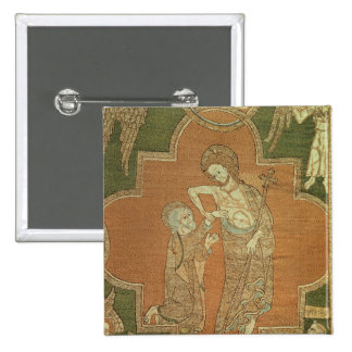 Scene from Life of Christ, detail from Syon Cope Pinback Button