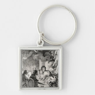 Scene from 'L'Ingenu' by Voltaire Keychain