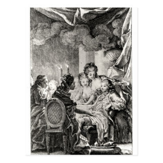 Scene from 'L'Ingenu' by Voltaire Postcard
