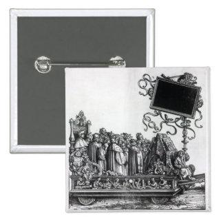 Scene from Maximilian's Triumphal Procession 2 Inch Square Button