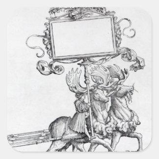 Scene from Maximilian's Triumphal Procession Square Sticker