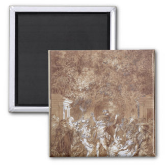 Scene from of 'The Marriage of Figaro' 2 Inch Square Magnet