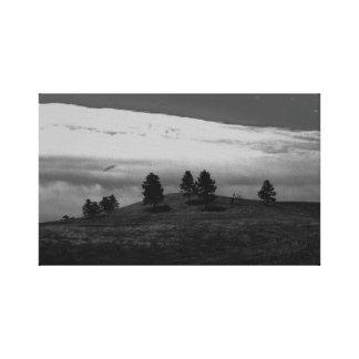 Scene from South Dakota (b/w) Canvas Print