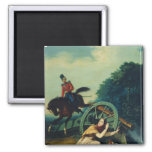 Scene from the 1812 Franco-Russian War, 1830s 2 Inch Square Magnet