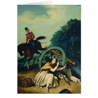 Scene from the 1812 Franco-Russian War, 1830s Card